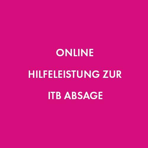 Online Hilfeleistung zur ITB Absage